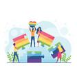 lgbt pride concept cartoon vector image