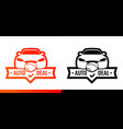 logo for dealership car front with handshake vector image vector image