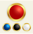 luxury golden round buttons set in different vector image vector image