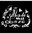Made with love handmade letters vector image