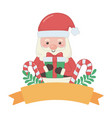 merry christmas santa claus design vector image