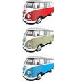Minibus set vector image