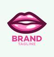 modern beautiful lips logo vector image vector image