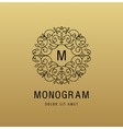 monogram luxury linear logo company icon vector image