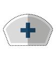 Nurse hat uniform isolated icon