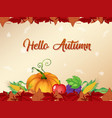 orange autumn template background vector image vector image