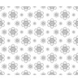 outline floral pattern seamless flora backdrop vector image vector image