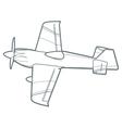 outline sport plane vector image vector image