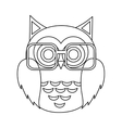 owl cartoon icon vector image vector image