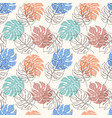 pattern with monstera leaves vector image vector image