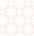 Pink rings abstract seamless pattern on white vector image