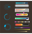 progress loading bar indicators download vector image vector image