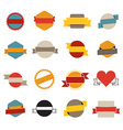 Retro flat banners template collection vector image