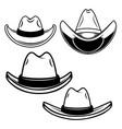 set cowboy hats design element for logo vector image