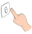 set of electric switch vector image