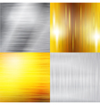 Set of metal silver and gold structure vector image