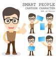 Smart people cartoon character eps 10 vector image vector image