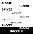 Soccer text for logo the team and the cup vector image vector image