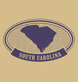 South Carolina map silhouette - oval stamp vector image vector image