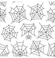 spider web seamless pattern vector image