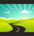 summer holidays road vector image vector image