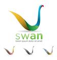 Swan Icon vector image vector image