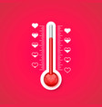 the thermometer of the love scale with vector image