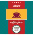 vintage coffee poster vector image vector image