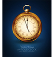 vintage pocket watch on a blue background vector image
