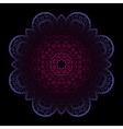 Violet mandala on dark background vector image