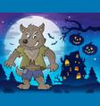werewolf topic image 3 vector image vector image