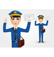 young postman with envelopes vector image vector image