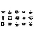 cup icon set simple style vector image