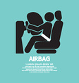 Airbag Car Safety Equipment vector image
