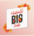 autumn sale square banner background vector image