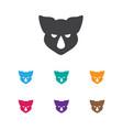of zoo symbol on rhino icon vector image