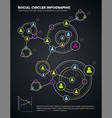 social circles infographic vector image