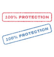 100 percent protection textile stamps vector image vector image