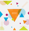 abstract colorful geometric triangles circles vector image vector image