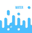 Abstract Flat Design Water vector image vector image