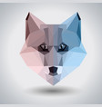 abstract polygonal tirangle animal fox hipster