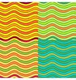 Abstract wavy seamless pattern set vector image vector image