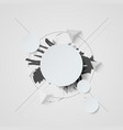 abstract white background with circles and vector image vector image