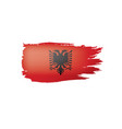 albania flag on a white vector image vector image