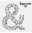 Ampersands Hand Drawn and catchwords vector image vector image