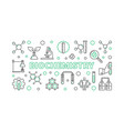 biochemistry horizontal outline banner or vector image vector image