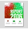 Business report design background with colorful vector image vector image