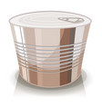 cartoon food tin can vector image