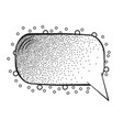 cartoon speech bubbles on white background vector image vector image