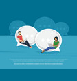 Chat talk concept vector image